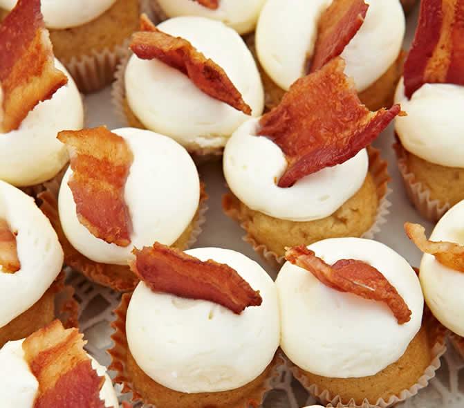 Cream Cheese and <strong>Bacon</strong> Cupcakes