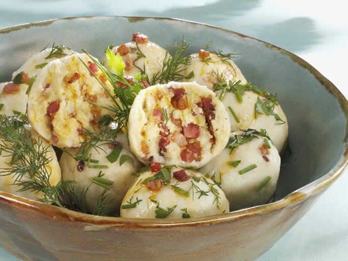 Potato Dumplings with <strong>Bacon</strong>