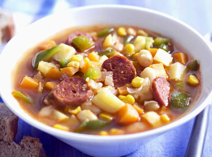 Mexican White Bean Soup with Chorizo Style <strong>Sausage</strong>