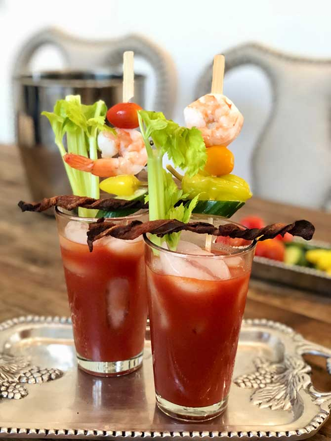 The Best Bloody Mary Recipe has…Bacon Swizzle Sticks